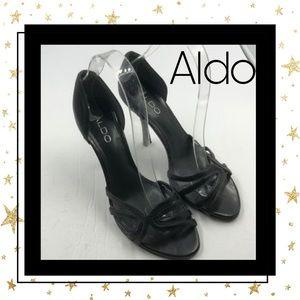 Aldo Women's Black Leather Heels 7